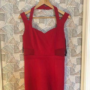 Guess Coral Bright Pink Party Dress